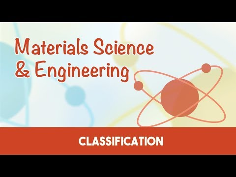 AMIE Exam Lectures- Materials Science & Engineering | Classification of Materials | 1.3