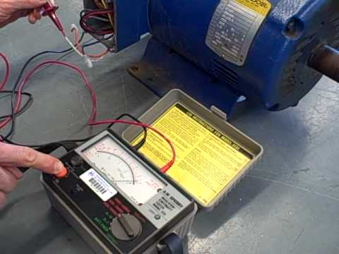 Megger insulation test on a bad motor youtube for How to check ac motor