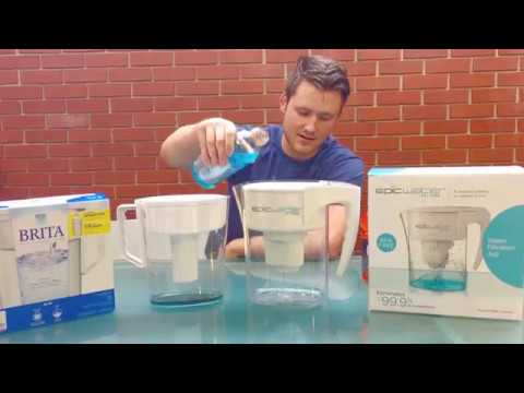 Epic Water Filters Pure Pitcher vs Brita - Blue Gatorade Test