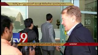 Minister KTR meets CISCO Chairman John T Chambers USA TV9