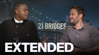Stephan James, Taylor Kitsch On Playing Bad Guys In '21 Bridges'   EXTENDED