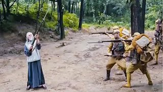 enemy wanted to kill the old man, then invaded village.but the old man was a kung fu master