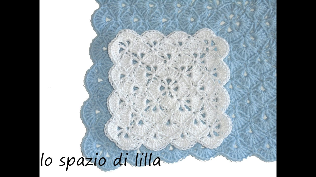 Super lilla's tutorials: la piastrella crochet a ventaglietti / the  WP72