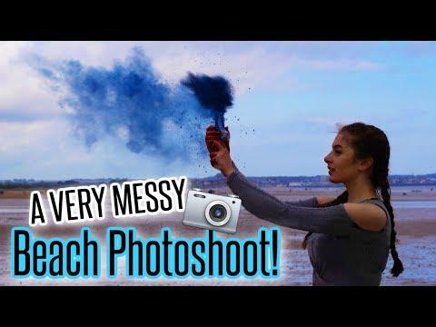 A VERY MESSY BEACH PHOTOSHOOT! (Brandon Woelfel Inspired) | BeautySpectrum