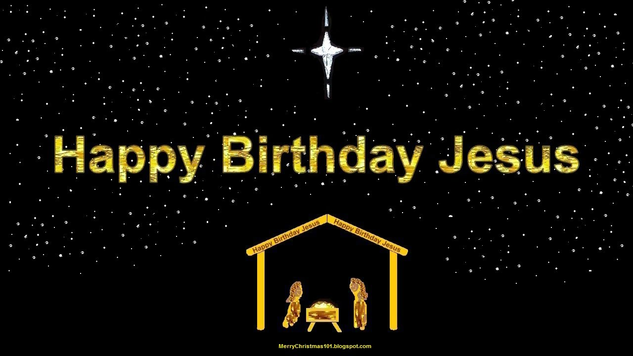 Happy Birthday Jesus Manger Scene Carol Of The Bells 12