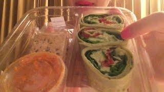 ASMR Eating Starbucks Edamame Hummus Wrap, Caramel Macchiato with Scone!