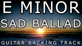 E Minor // Sad Ballad // Acoustic Guitar Backing Track