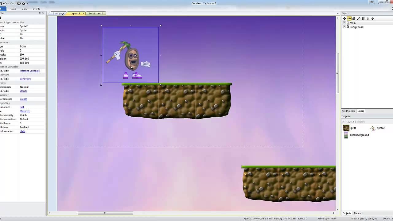 how to make a platform game in construct 2