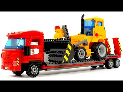 City ​​of masters 8869 Truck with tractor - Speed Build