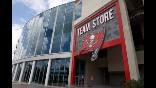 Checking Out The New Tampa Bay Buccaneers Team Store At Raymond James Stadium