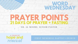 Word Wednesday: Prayer Points for Fast 2021