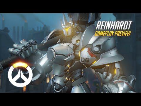 Reinhardt Gameplay Preview | Overwatch | 1080p HD, 60 FPS