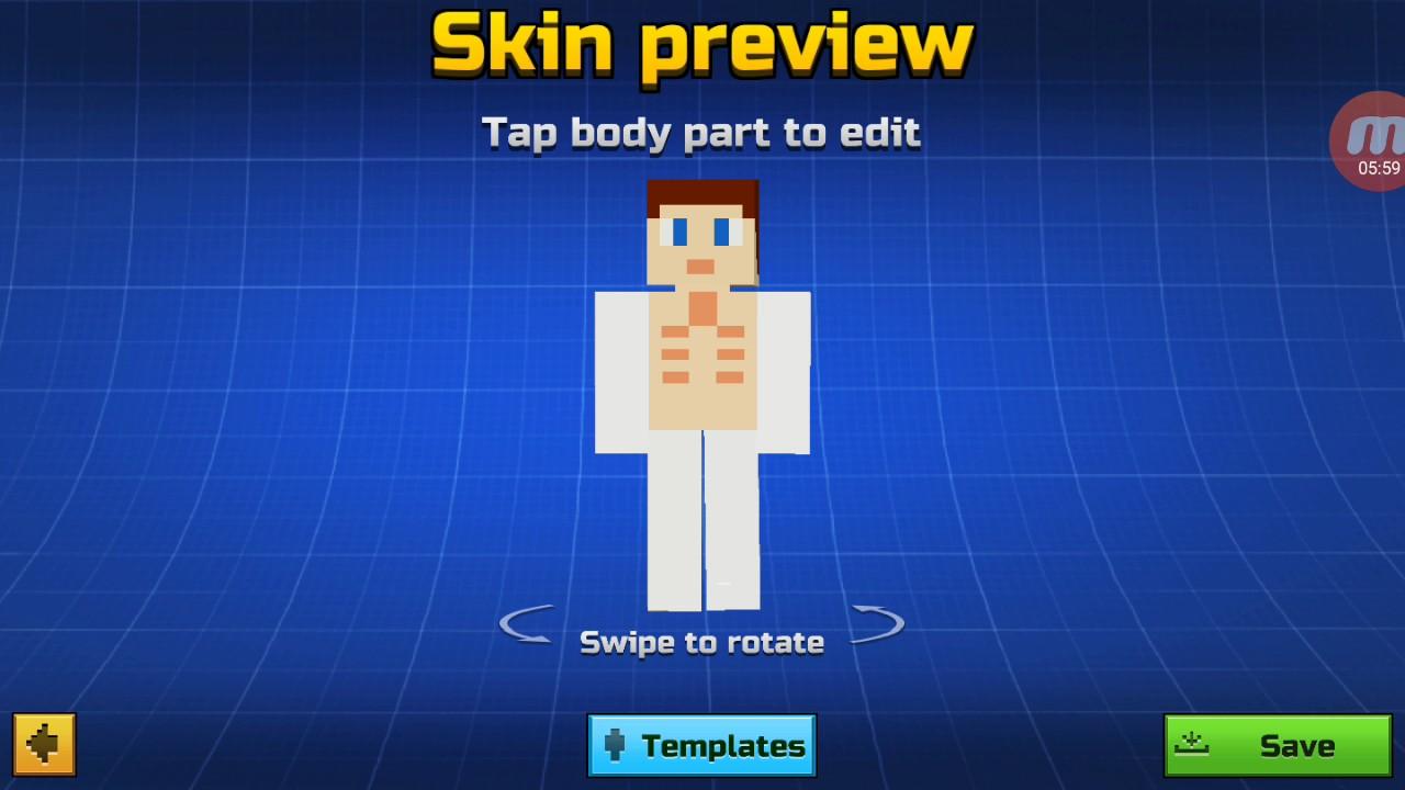 How to make a John cena skin in pixel gun 11d - YouTube