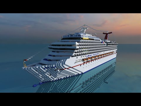 Minecraft Cruise Ship- Carnival Conquest [Full Interior][+Download]