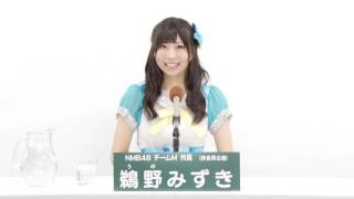 AKB48 49thシングル 選抜総選挙 アピールコメント NMB48 チームM所属 鵜...