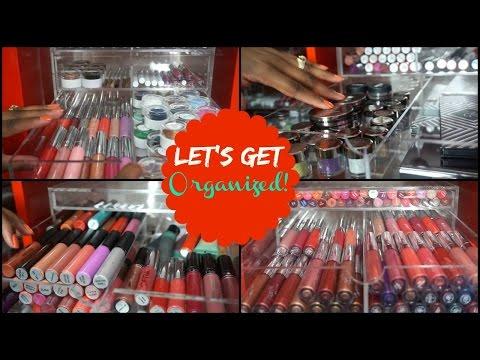 Makeup Organization + Sneak Peek of My Makeup Collection - 동영상