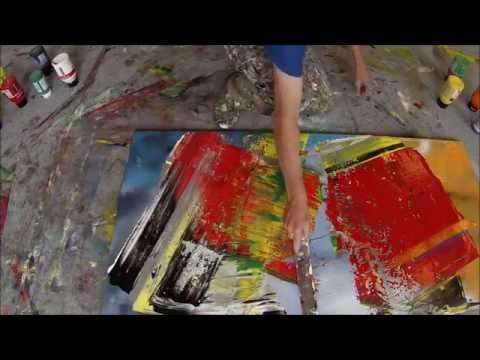 Learn To Paint Abstract Painting With Broom, Squeegee And Scrapers (HD) by Jan van Oort