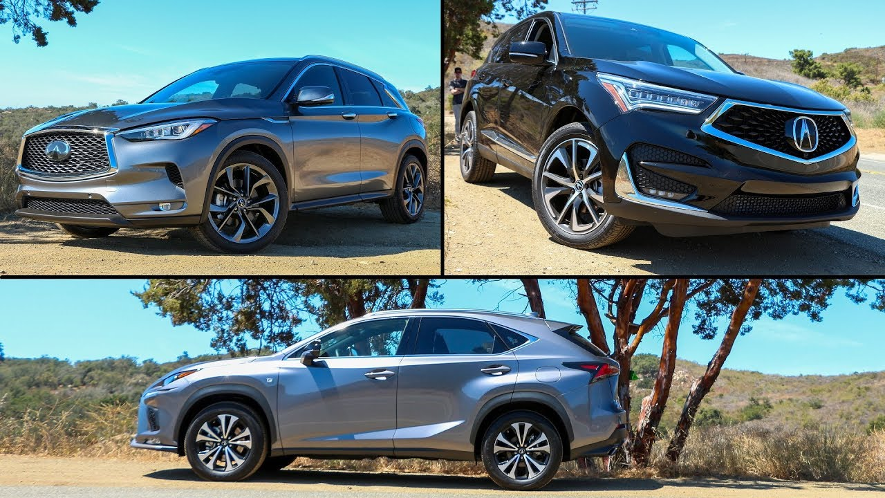 2019 acura rdx vs infiniti qx50 vs lexus nx 300 f sport entry level luxury suv shoot out. Black Bedroom Furniture Sets. Home Design Ideas