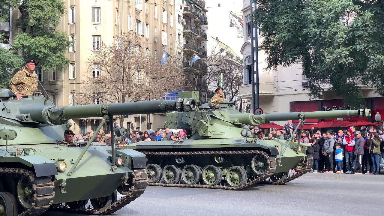 Desfile Militar independencia Argentina 9 Julio 2019 4k 30 de 45 Completo militar tanks