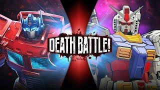 Optimus Prime VS Gundam (Transformers VS Gundam) | DEATH BAT...
