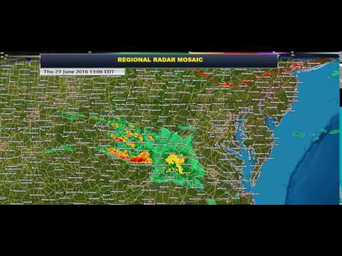 Regional Radar Loop for Mid-Atlantic States