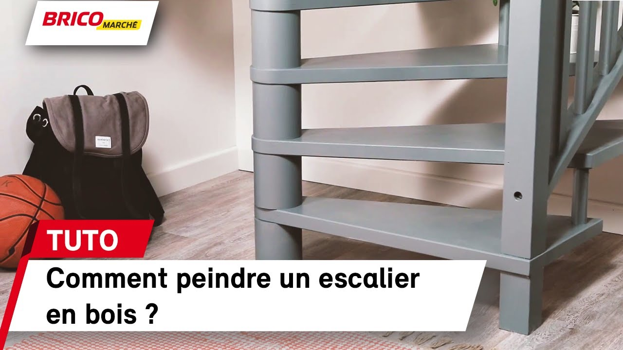 Video Comment Peindre Un Escalier En Bois Video Tuto