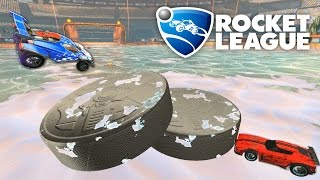 ROCKET LEAGUE ICE HOCKEY WITH TWO PUCKS MOD!