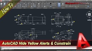 Autocad How To Hide Yellow Alerts And Infer Constrain