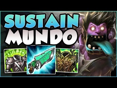 STOP PLAYING MUNDO WRONG! SUSTAIN MUNDO 100% HEALS TOO MUCH! MUNDO TOP GAMEPLAY! - League of Legends