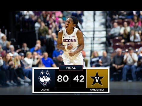 UConn Women's Basketball Highlights v. Vanderbilt 11/17/2018