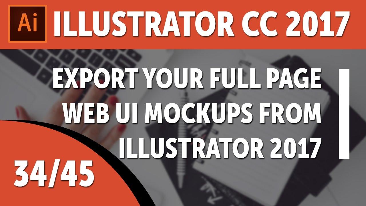 Export your full page web UI mockups from Illustrator 2017 - Adobe Illustrator CC 2017 [34/45]