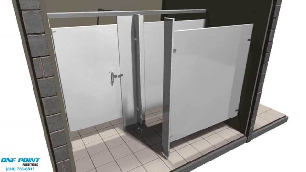 Toilet Partition Installation Stainless Steel Alcove - YouTube