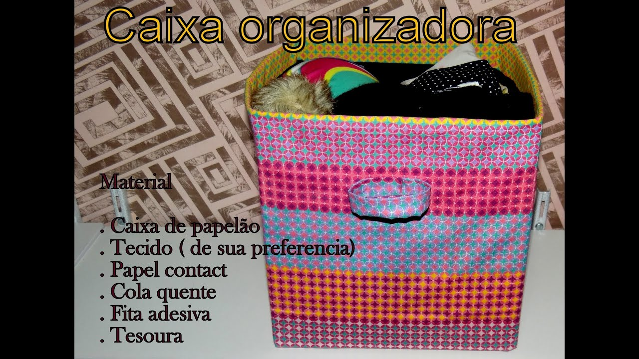 Como fazer caixa organizadora com tecido   #AD6D1E 2000x1467