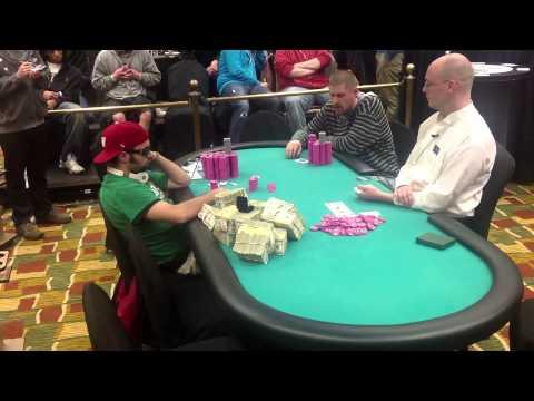 Adam Teasdale, final hand at WSOP Harrahs