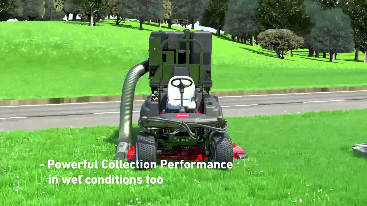 toro u00ae groundsmaster u00ae 360 high lift grass collection system