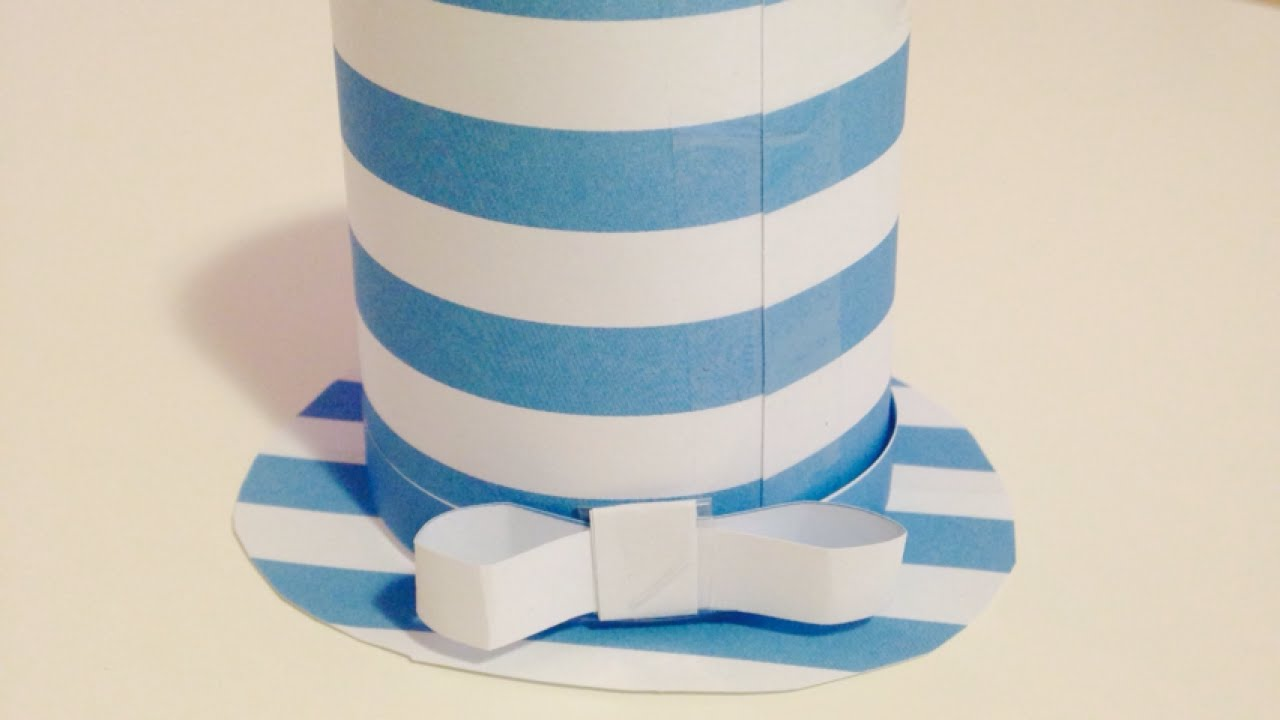 How to create a cute paper top hat diy crafts tutorial for How to make a paper design