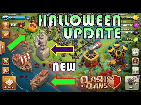 Clash Of Clans - OMG! HALLOWEEN UPDATE LEAKED 2016 | SHIPWRECK, KING STATUE & More | INSANE LEAK