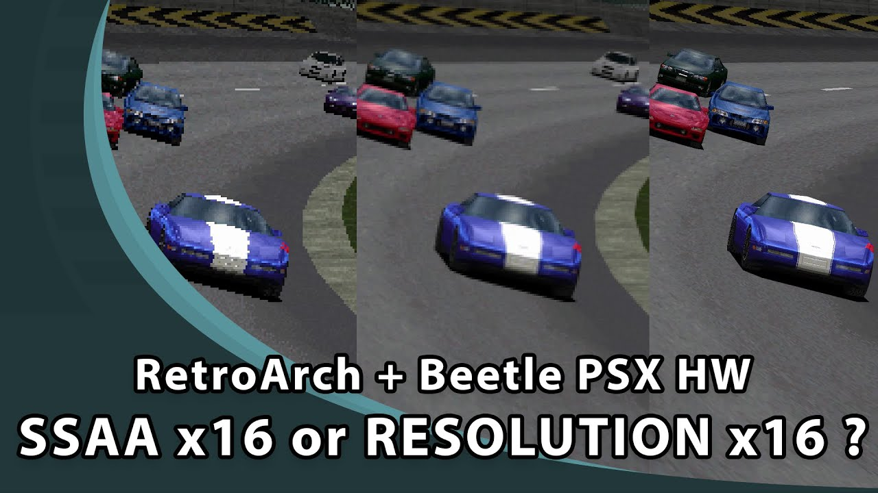RetroArch Beetle PSX HW : SSAA & PGXP (Crash Team Racing