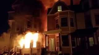 NEWARK, NJ 2ND ALARM HOUSE FIRE (PEOPLE RESCUED ) 2-23-15