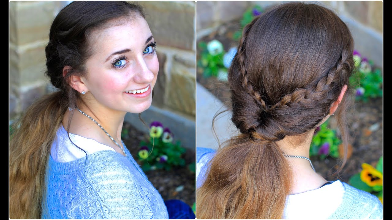 Quick Hairstyles For Braids Braid Flip Combo Easy Hairstyles Youtube