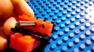 Как сделать мини пистолет из лего который стреляет деталями