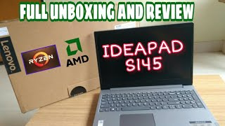 LENOVO IDEAPAD S145 Unboxing / AMD RYZEN 3 // Full review and detail unbox