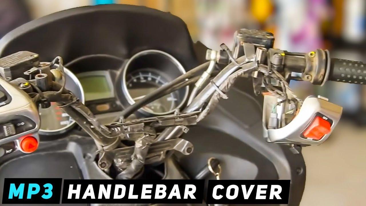 piaggio mp3 - mirrors / handlebar cover removal - youtube