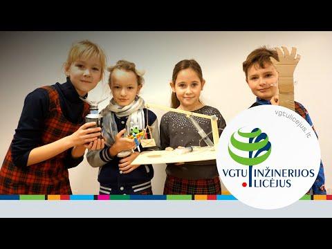 VGTU inžinerijos licėjaus pradinių klasių mokinių inžineriniai darbai (2018.12.14)