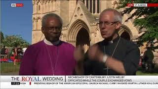 Bishop Michael Curry discusses his royal wedding sermon with the Archbishop of Canterbury.