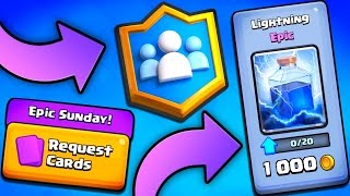 Donate EPIC CARDS In Clash Royale!