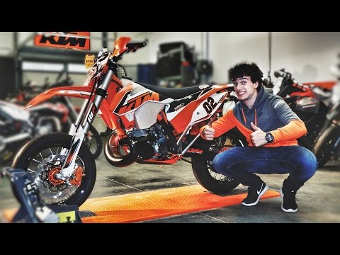 TRANSFORMATION OF MY ENDURO INTO SUPERMOTO AT KTM !