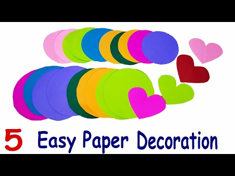 5 Festive and Party Paper Decoration Ideas | DIY Paper Crafts
