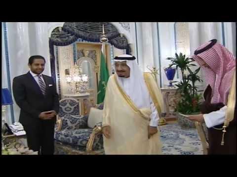 The ambassador Dhiauddin Bamakhrama withe King Salman bin Abdulaziz Al-Saud