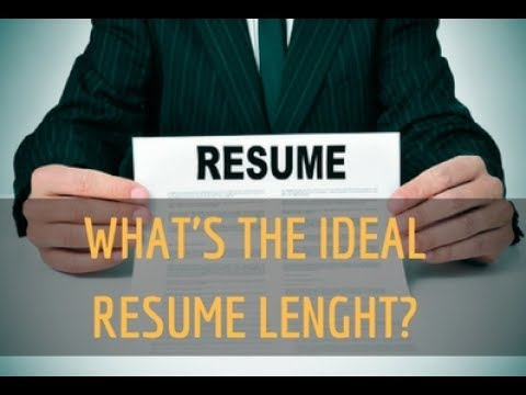 Ideal Resume Length - Resume  Career Branding Questions - YouTube